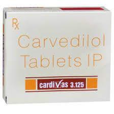 Cardivas 3.125mg Tablet