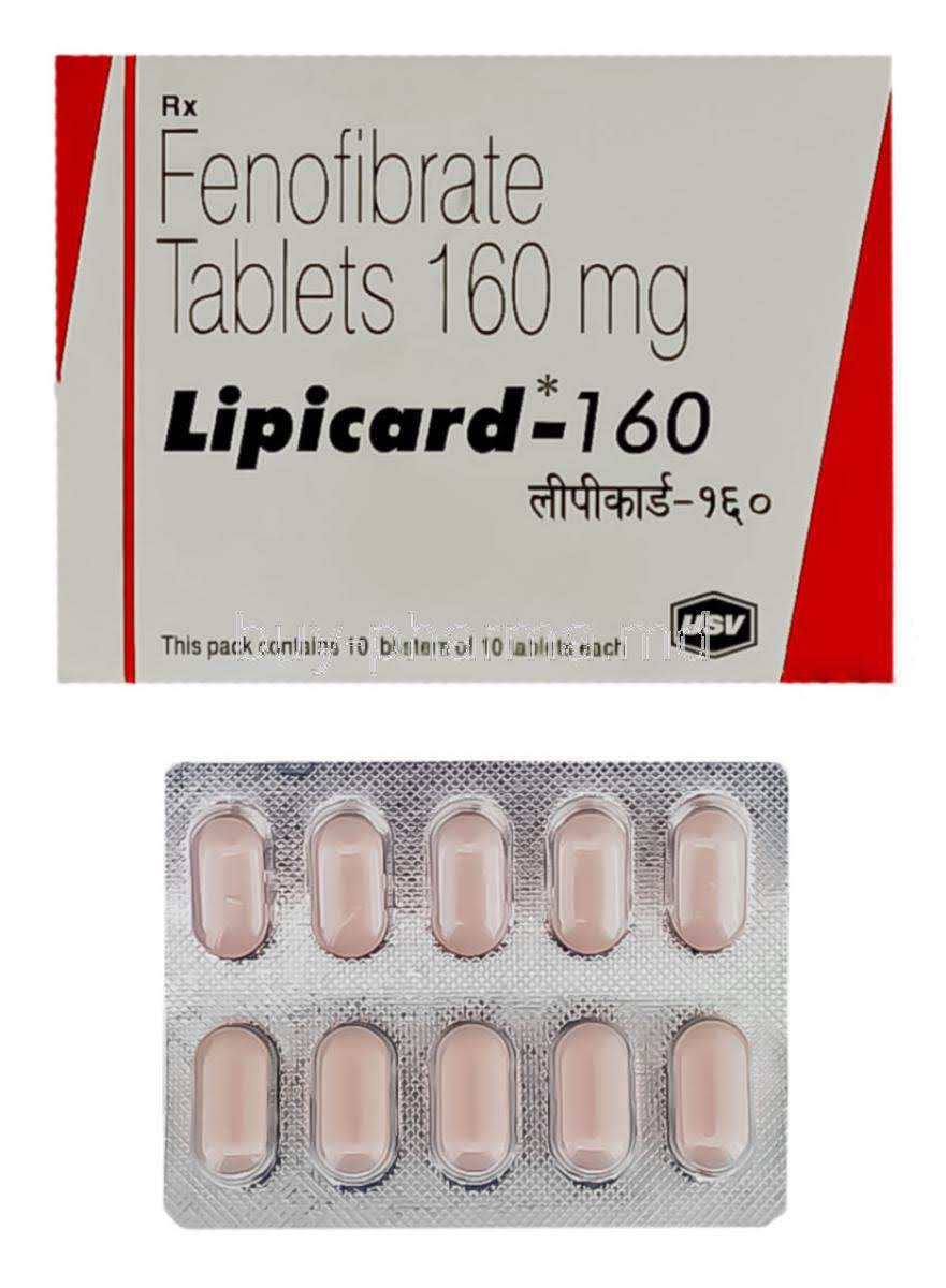 Lipicard 160mg Tablet