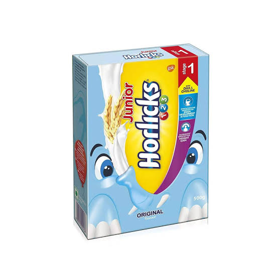 Junior Horlicks 1 2 3 500g  Vanilla Refil