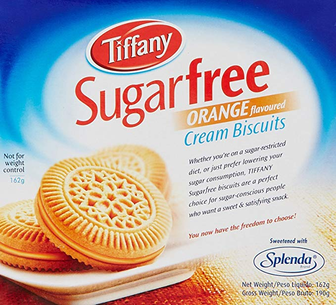 Tiffany Sugar Free Orange Flavored Cream Biscuits