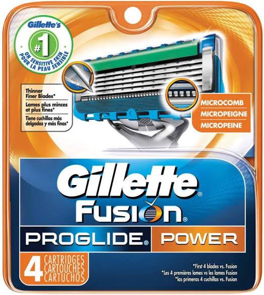 Gillette fusion & cartage power 4's 1