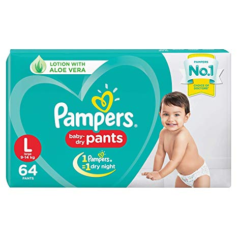 Pampers baby dry pants (L) 12'P