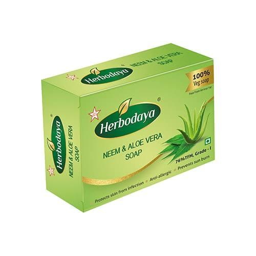 HERBODAYA NEEM&ALOVERA SOAP
